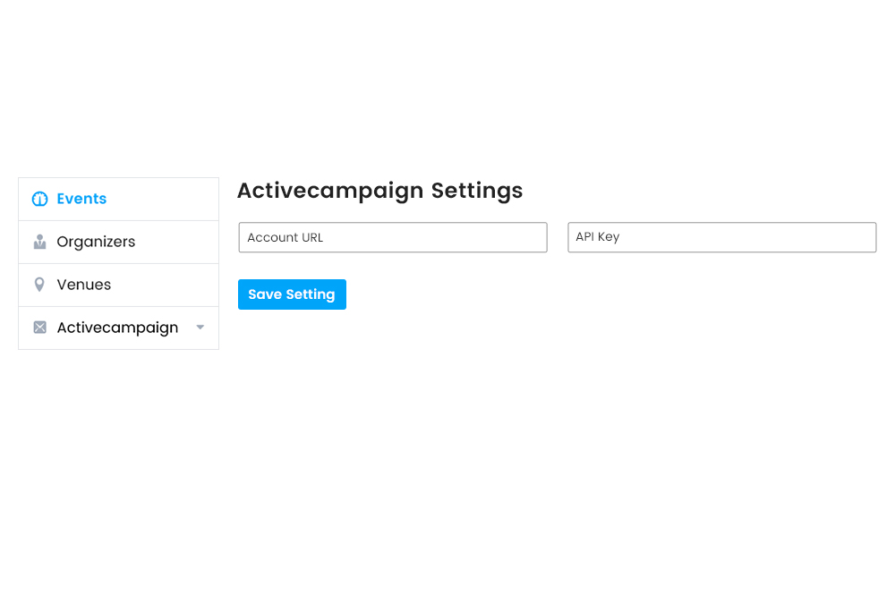 Active campaign settings at Frontend