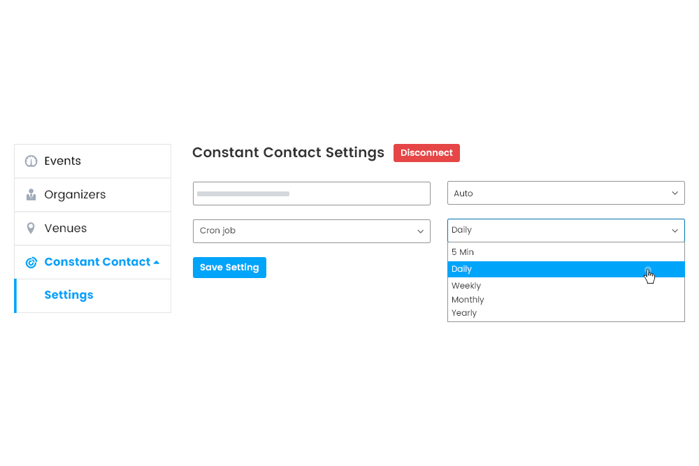 Synchronization on the basis of Cron Job on frontend