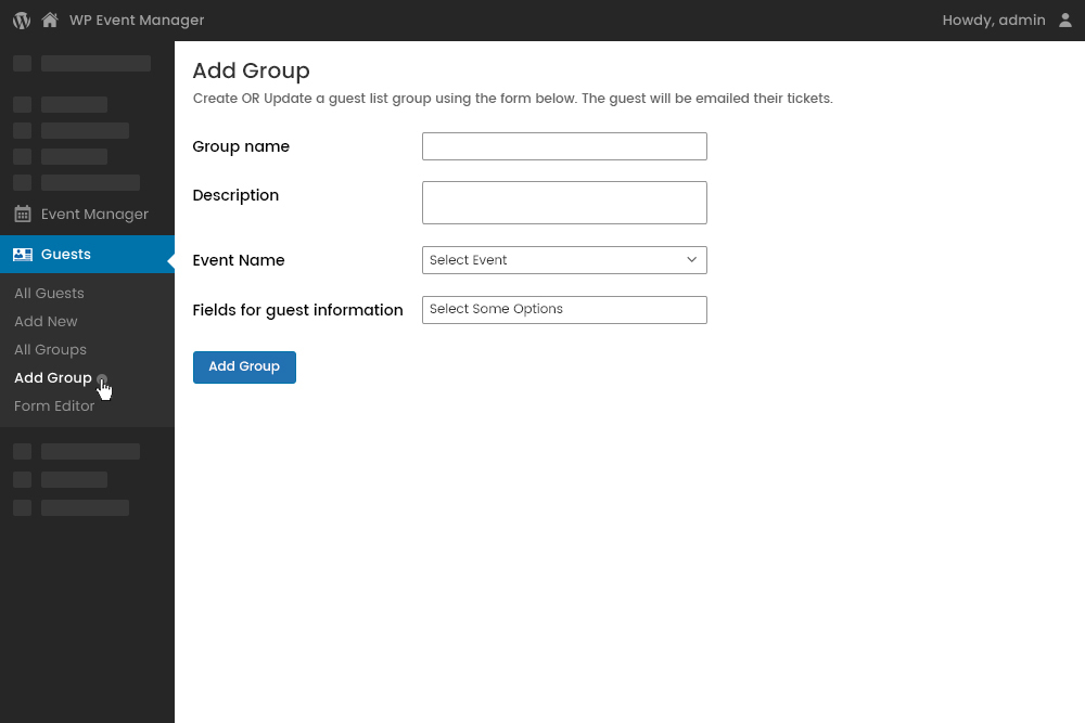 Adding Group from Admin Panel