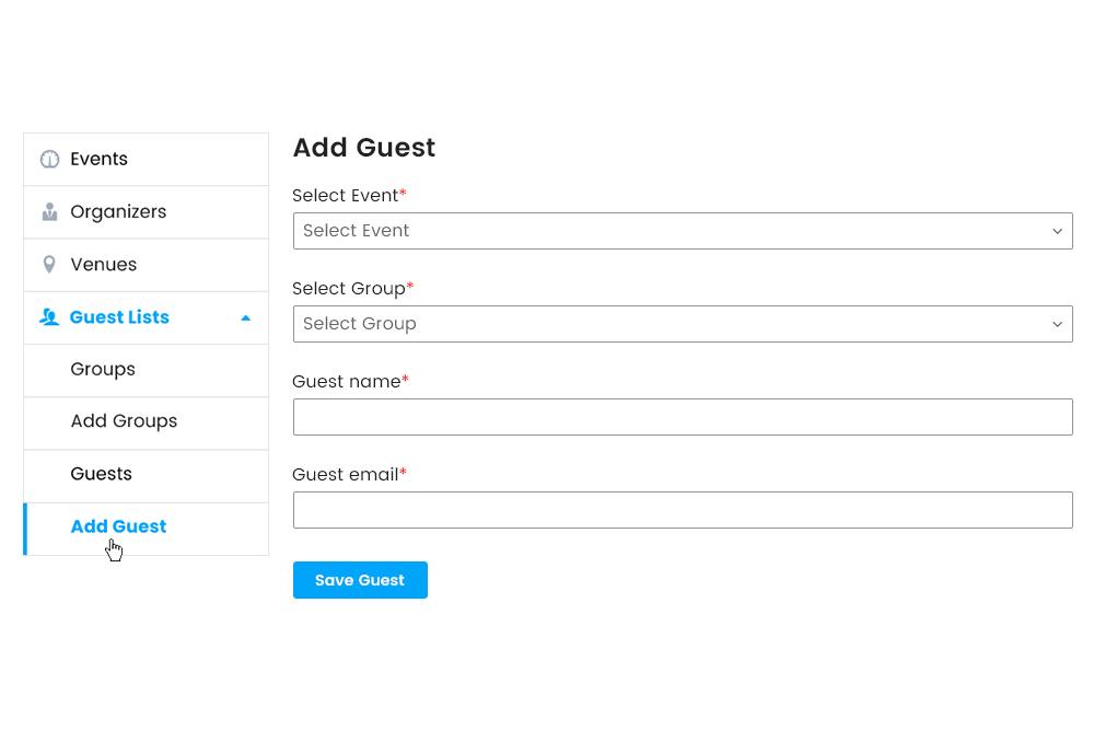 Adding Guest from Frontend