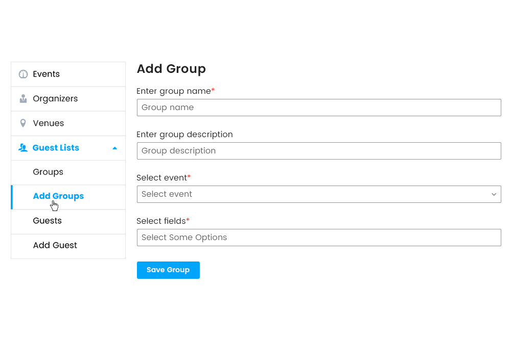 Adding Guest group from Frontend