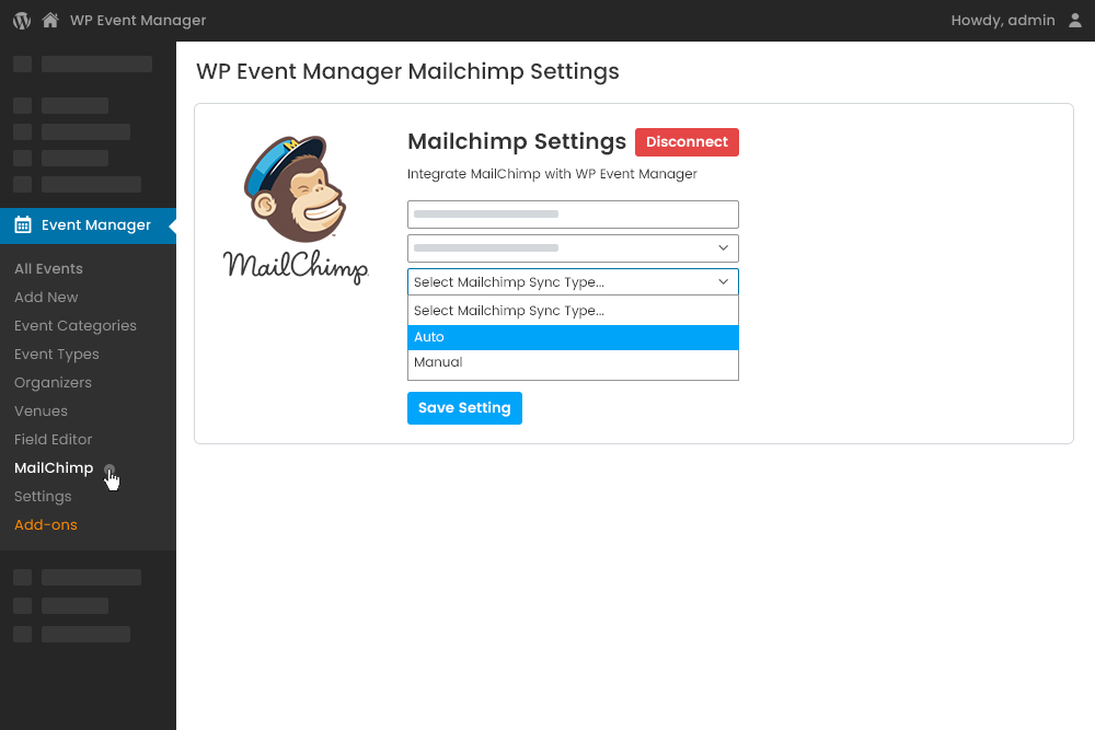 Automatic attendee information  Syncing at Admin Panel
