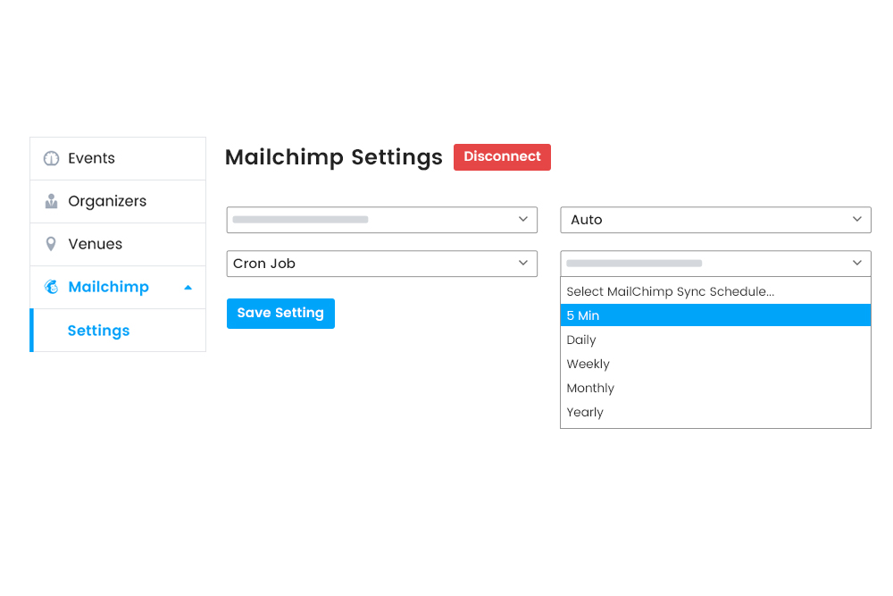 Automatic syncing of attendee information at Frontend