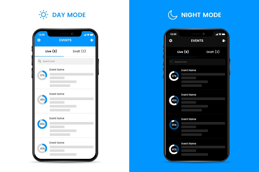 Experience the Dark and Light mode
