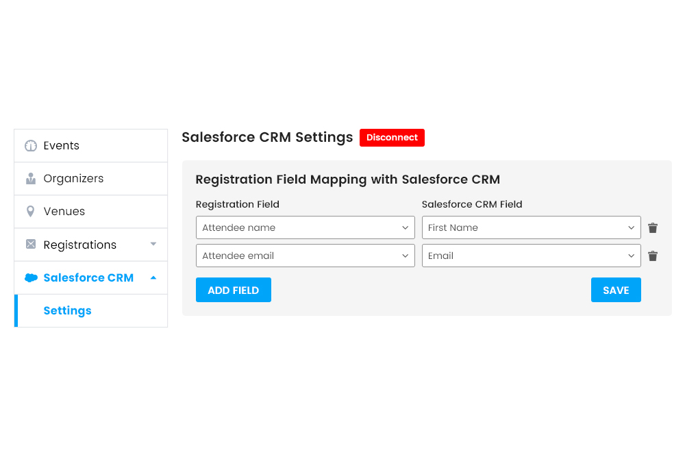 Field Mapping of the Registration form Fields at Frontend