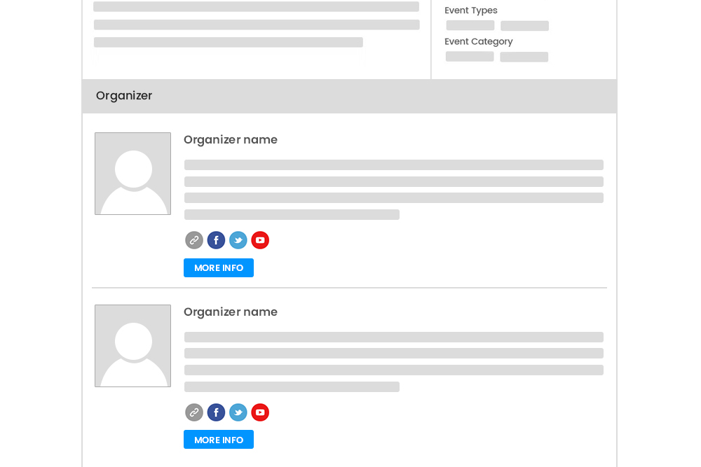 Multiple Organizers On Single Event Listing Page