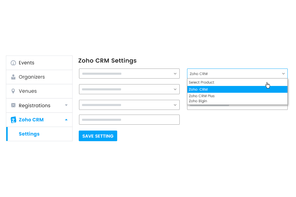 Choose from any Zoho Product