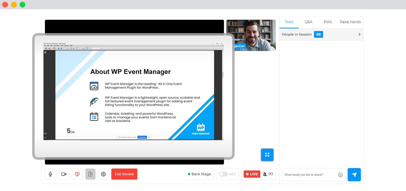 WP event manager Expo and Networking For Organizers