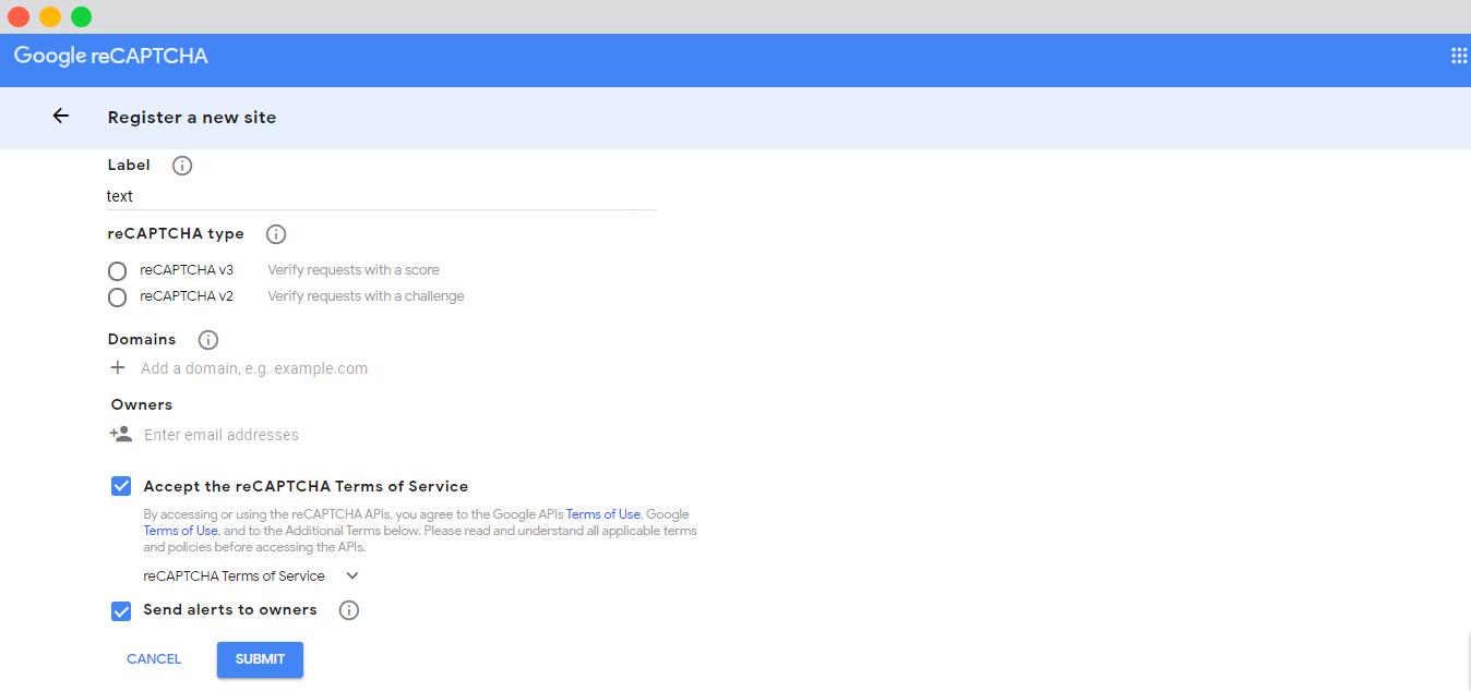 WP event manager google recaptcha form