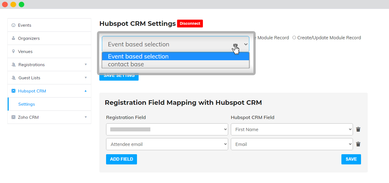 WP Event Manager HubSpot CRM Plugin