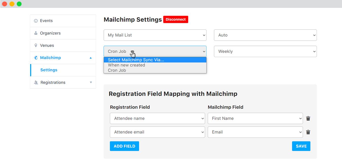 Registration Fields