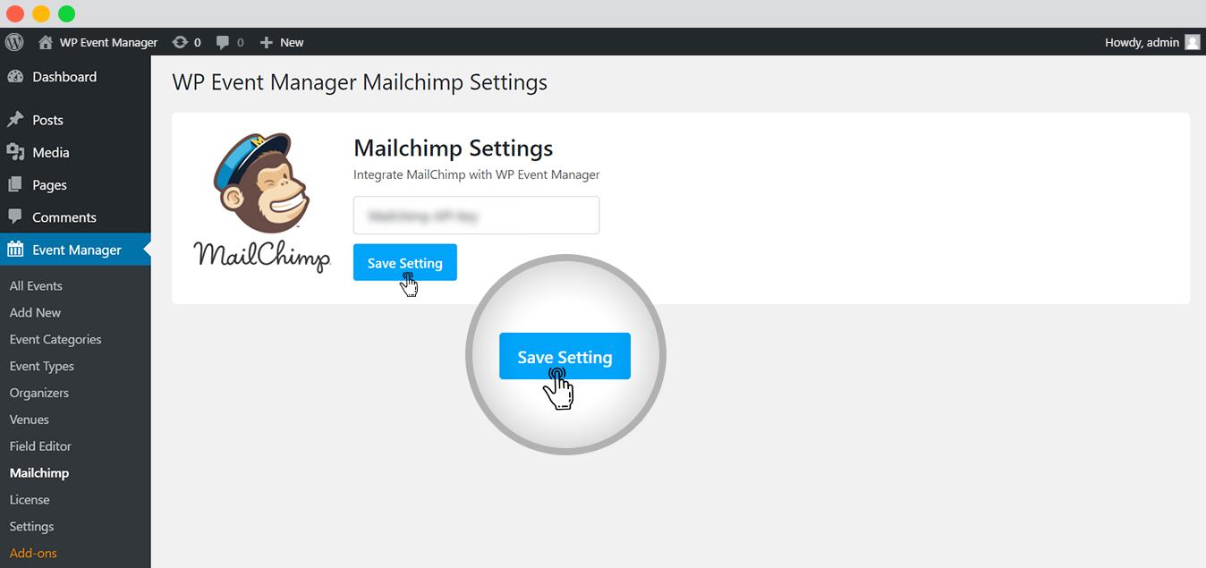 Integrating API keys with WordPress at Admin panel