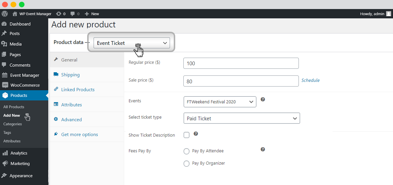 Add Tickets From WooCommerce