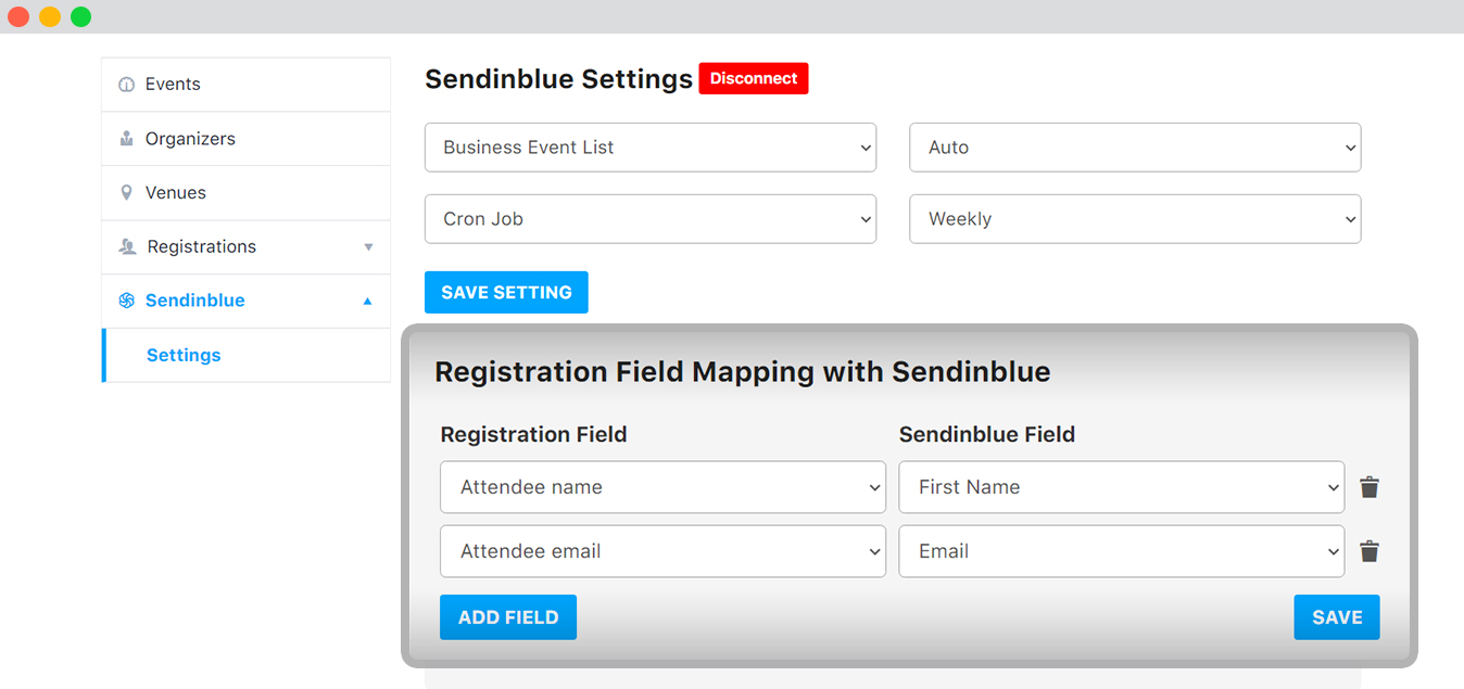 Select Custom Fields to be synced