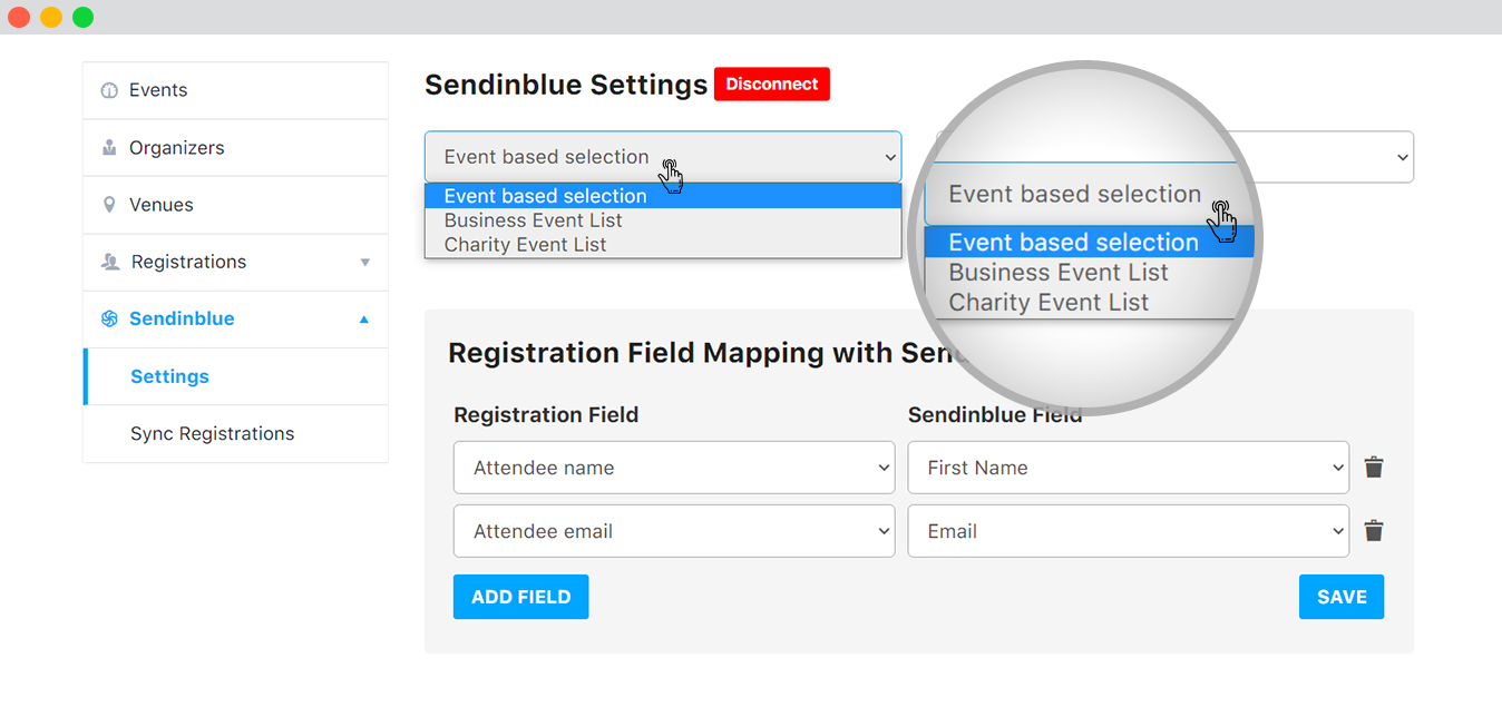 Sync Data on the basis of Event from frontend