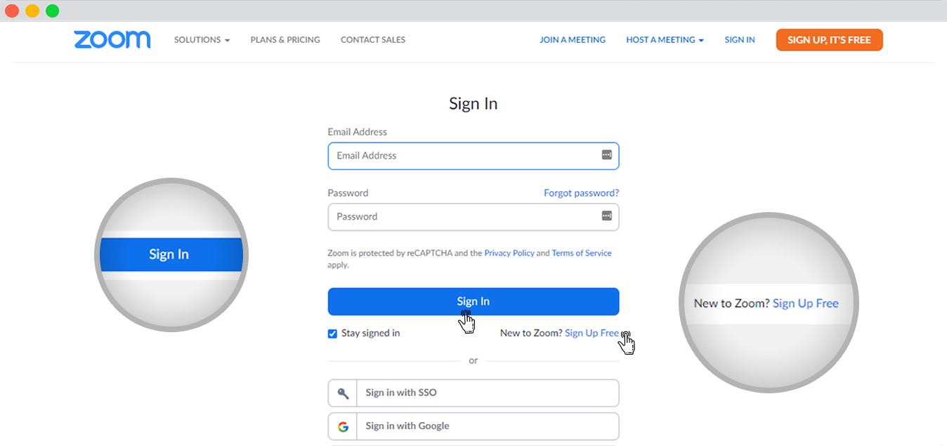 Sign in to Zoom by oAuth