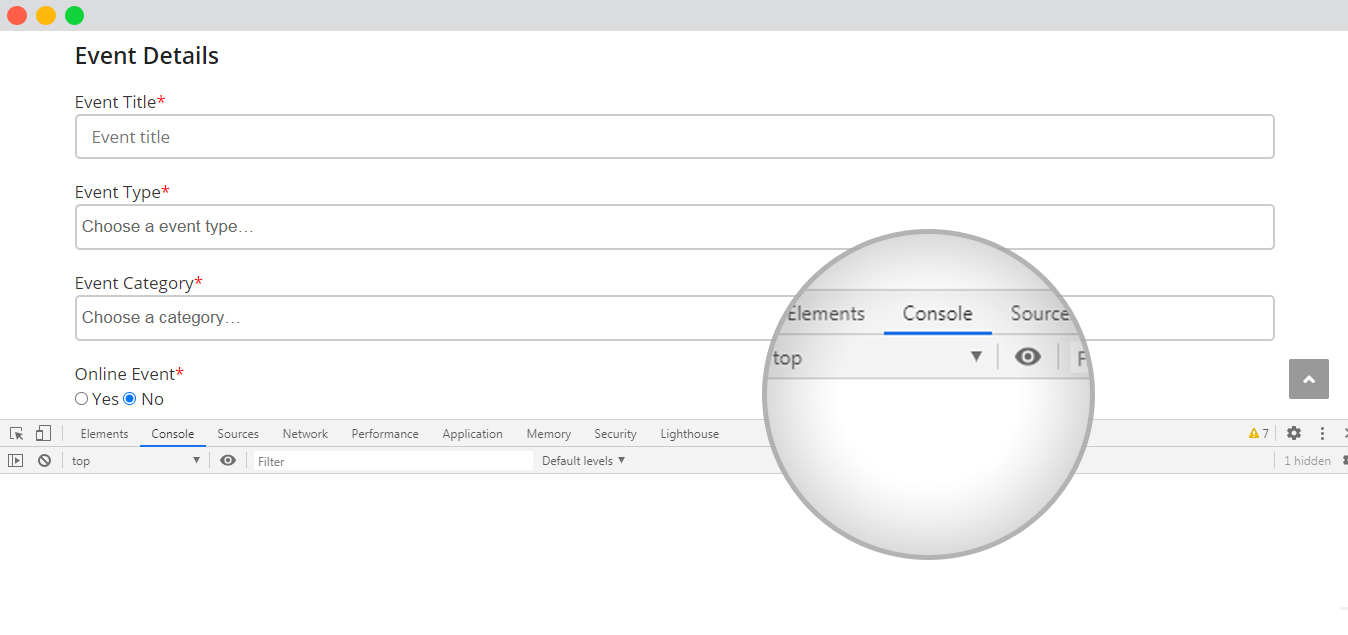 wp event manager console
