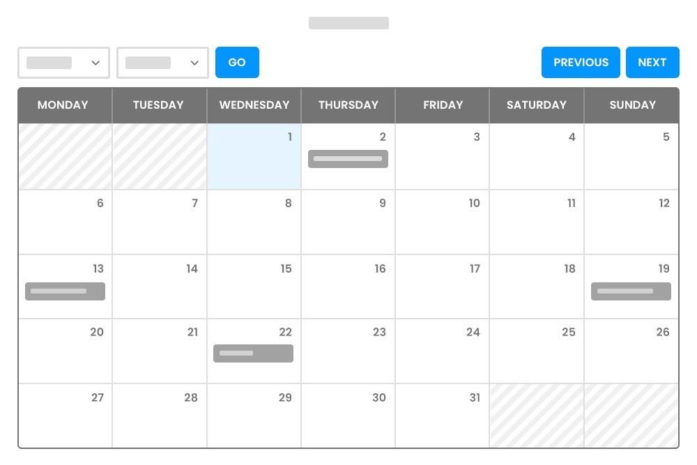 Shortcode Calendar View