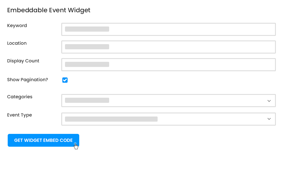 Create Embeddable Widget