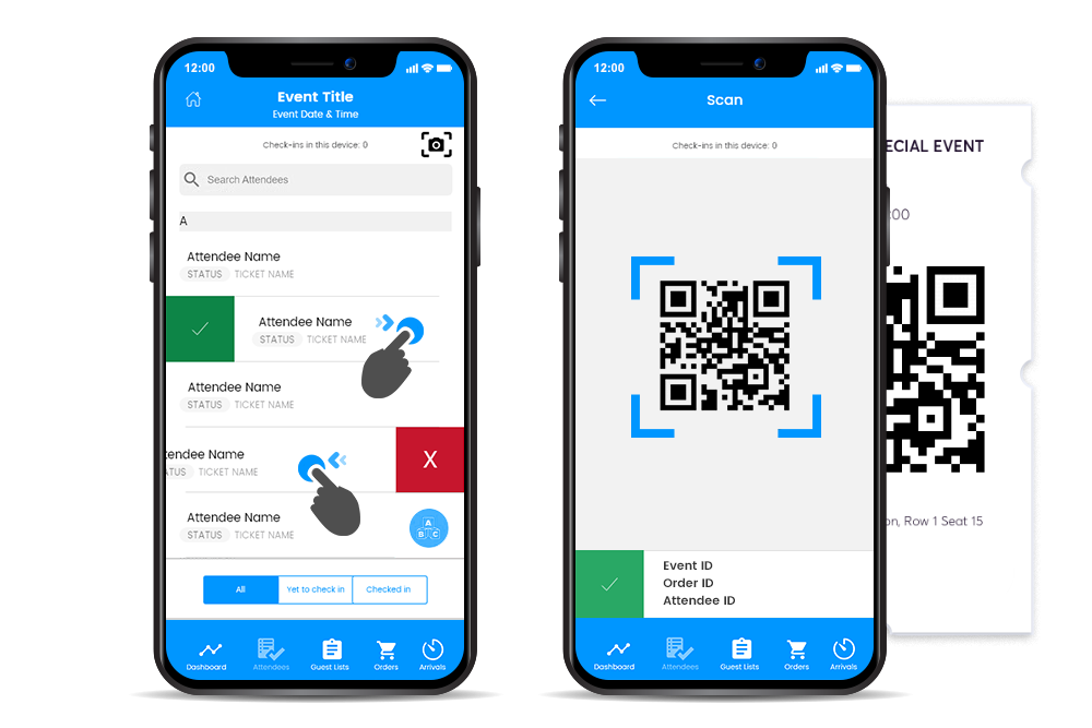 The fastest way to check in attendees by swiping and scanning