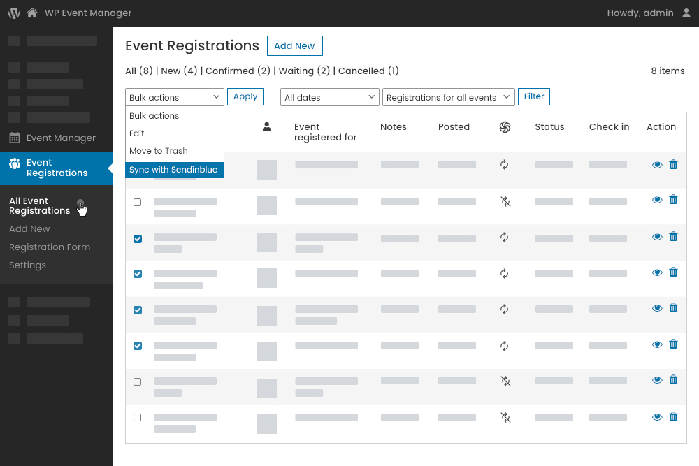 Manual attendee information Syncing at Admin Panel