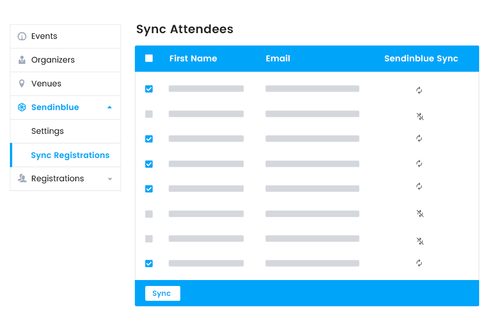 Manual attendee information Syncing at Frontend