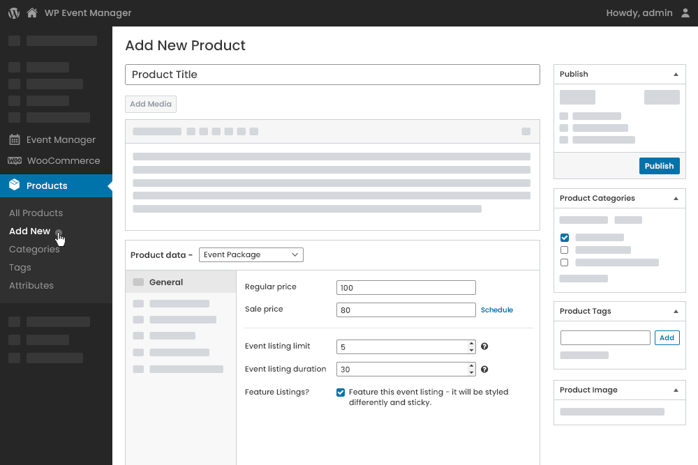 Create a package at Admin Panel