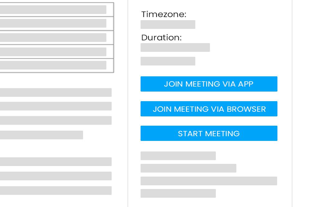 Join Meeting via Browser Links