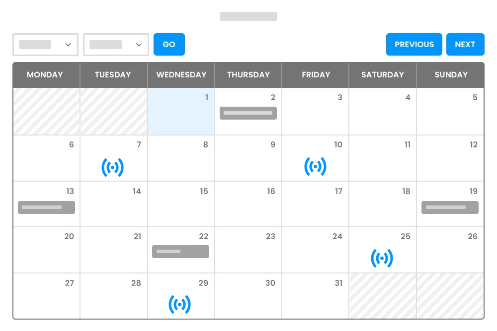 Zoom Meetings Highlighted as Virtual Events on Calendar