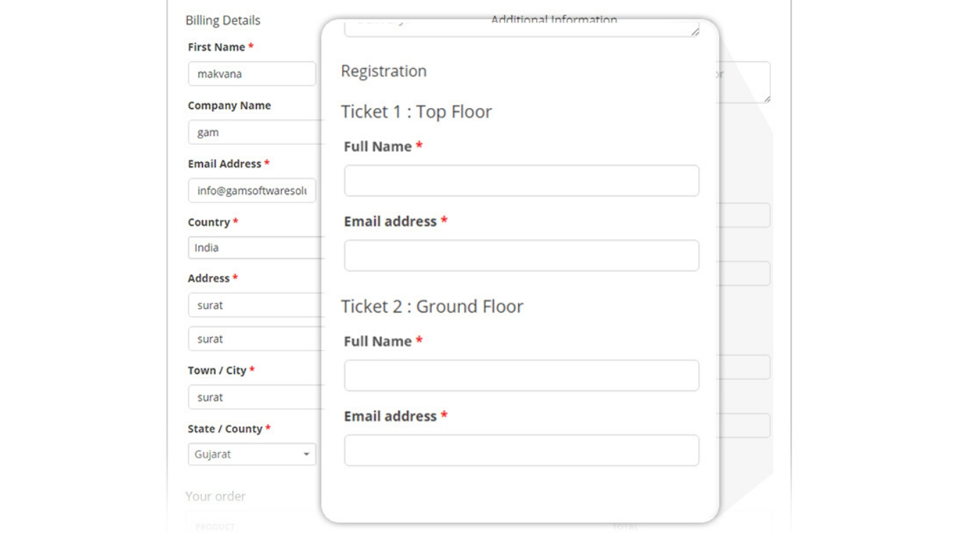 Sell Event Tickets and Attendee Information