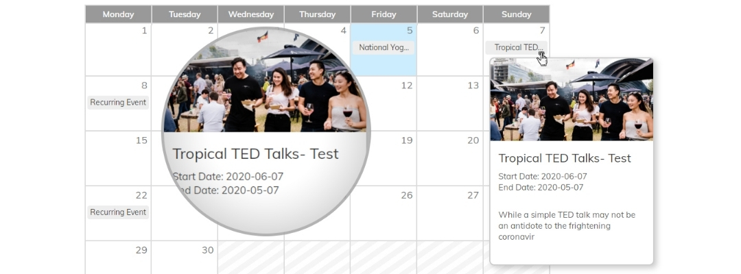 Event Calendar Add-on design calendar for students 3
