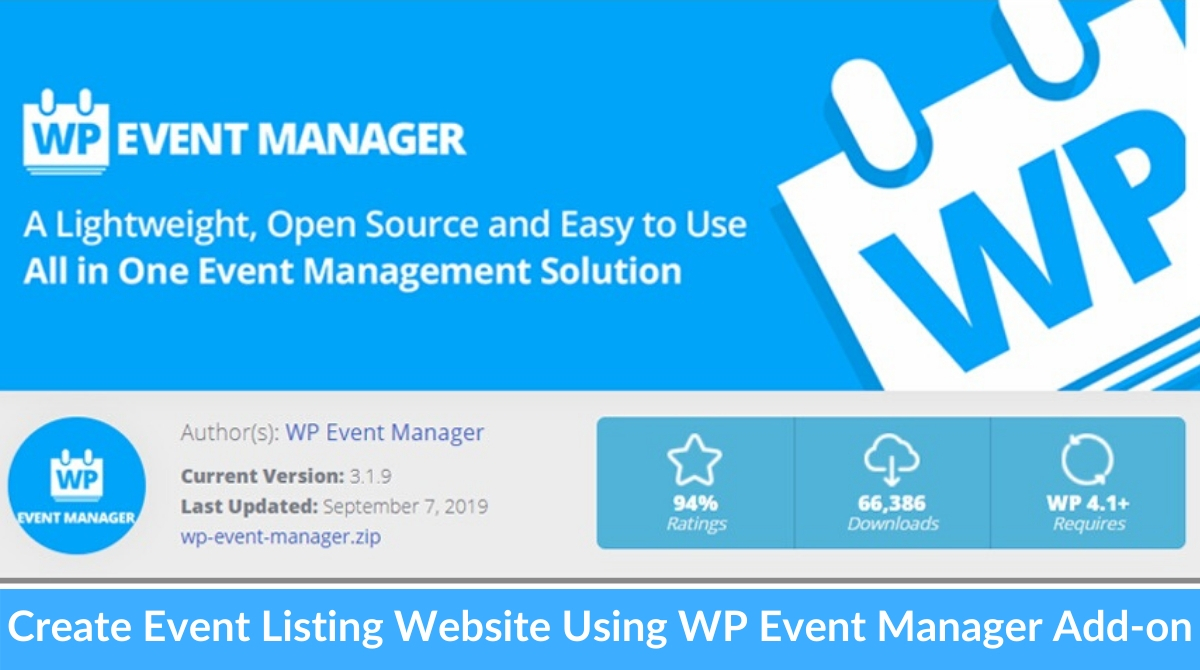 Create Event Listing Website With WordPress Using well-known WP Event Manager Add-on