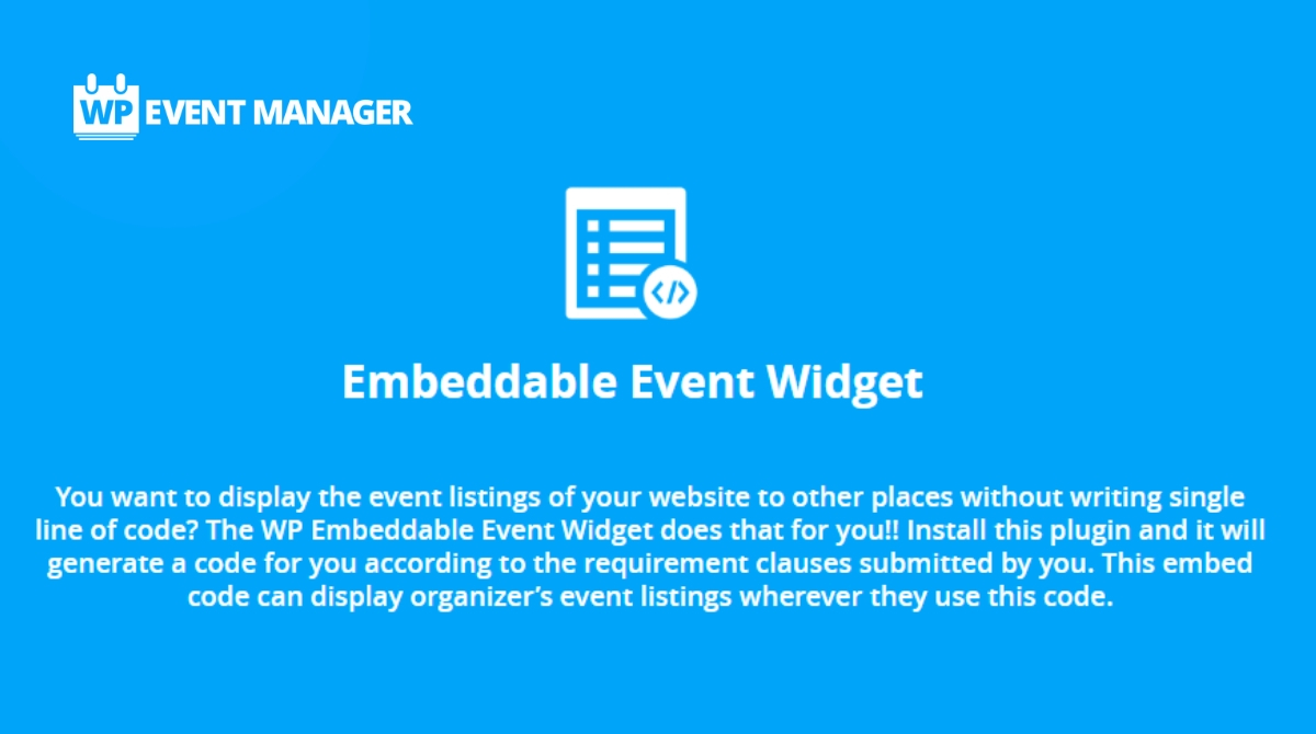 Display Event Listings of Website to Other Places
