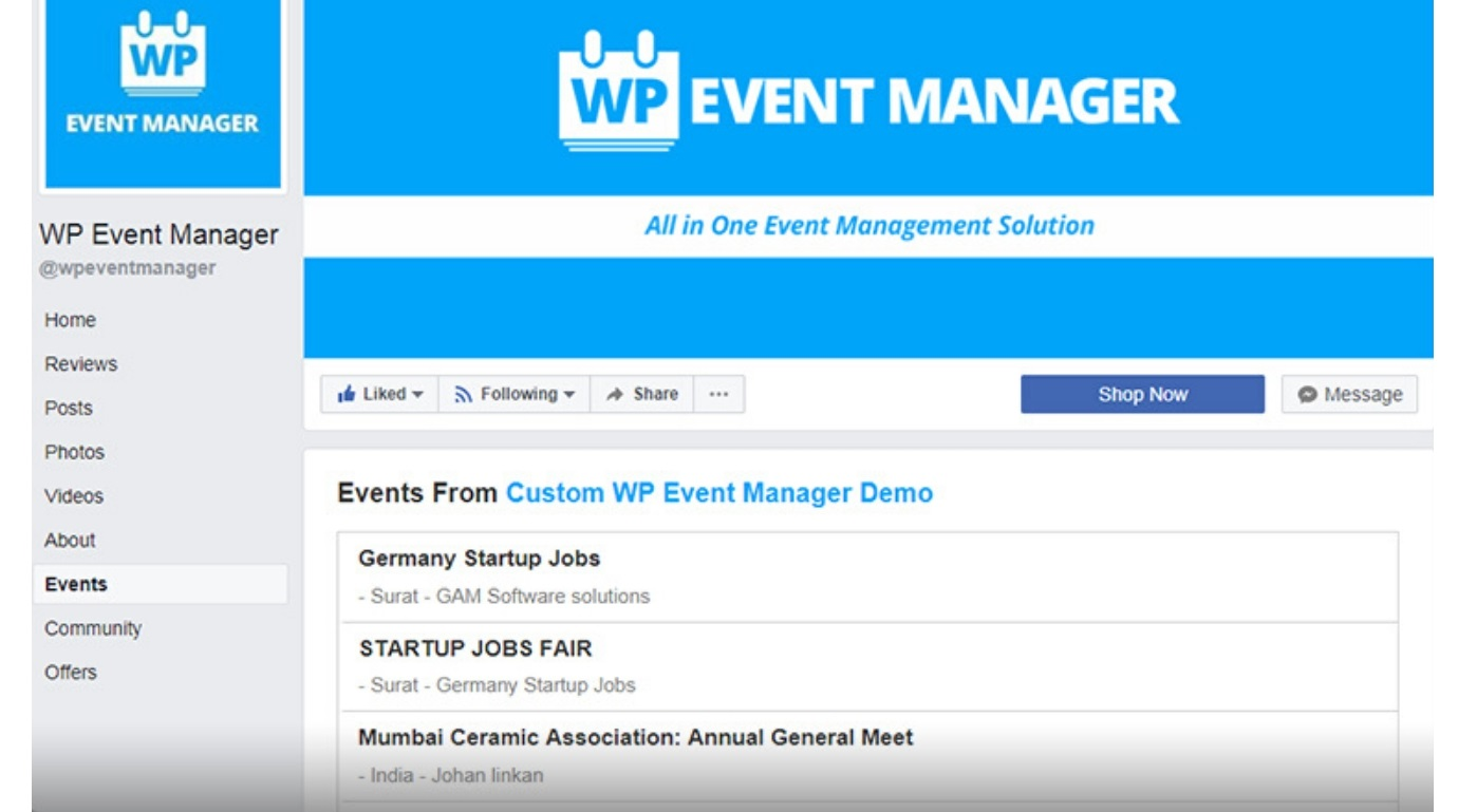 Display Event Listings of Website to Other Places Easy
