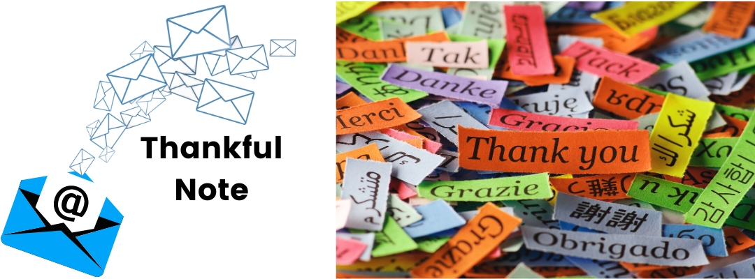 email communication Thankful Note