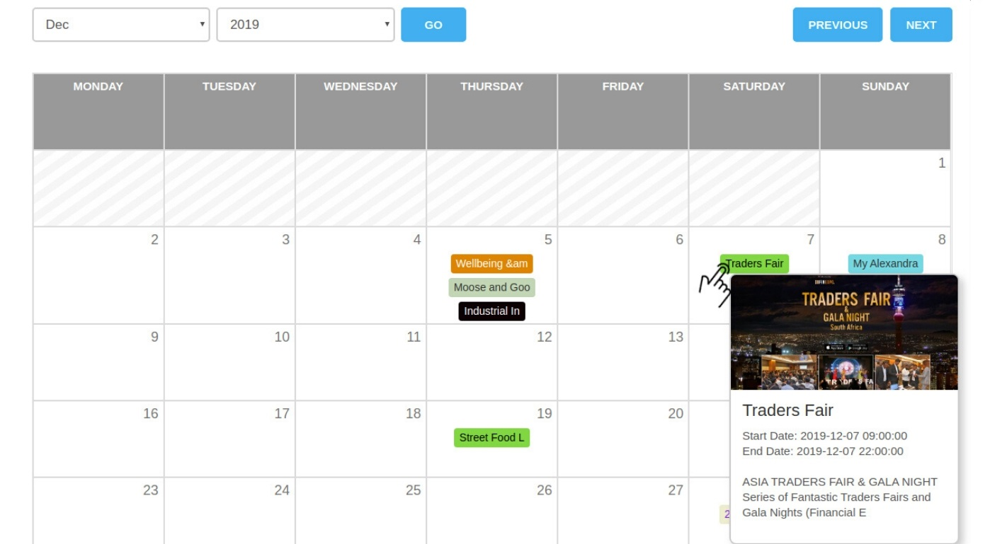 WP Event Manager Event Calender