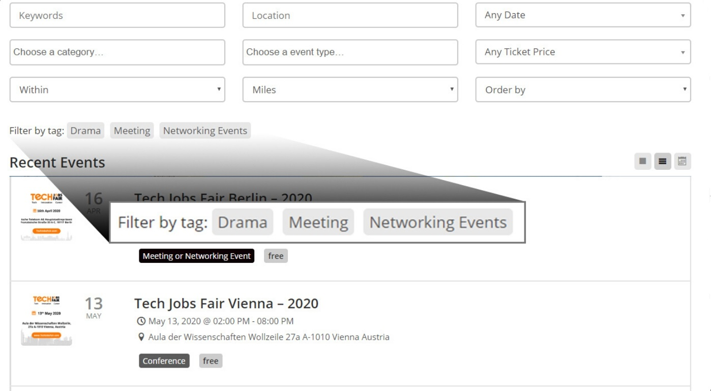 Searchability Of Your Events