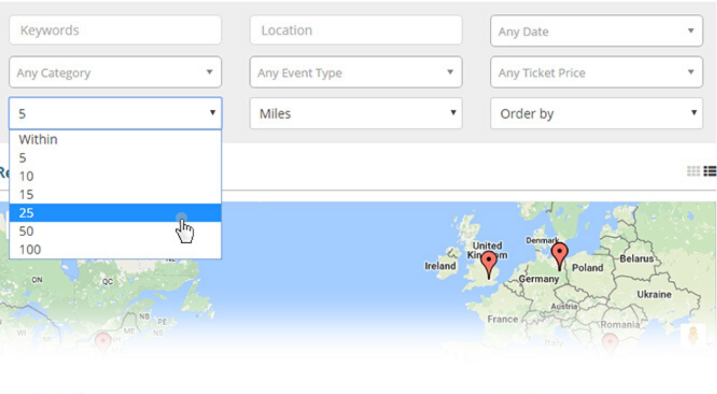 Google Maps Proximity Search Query Based on Radius