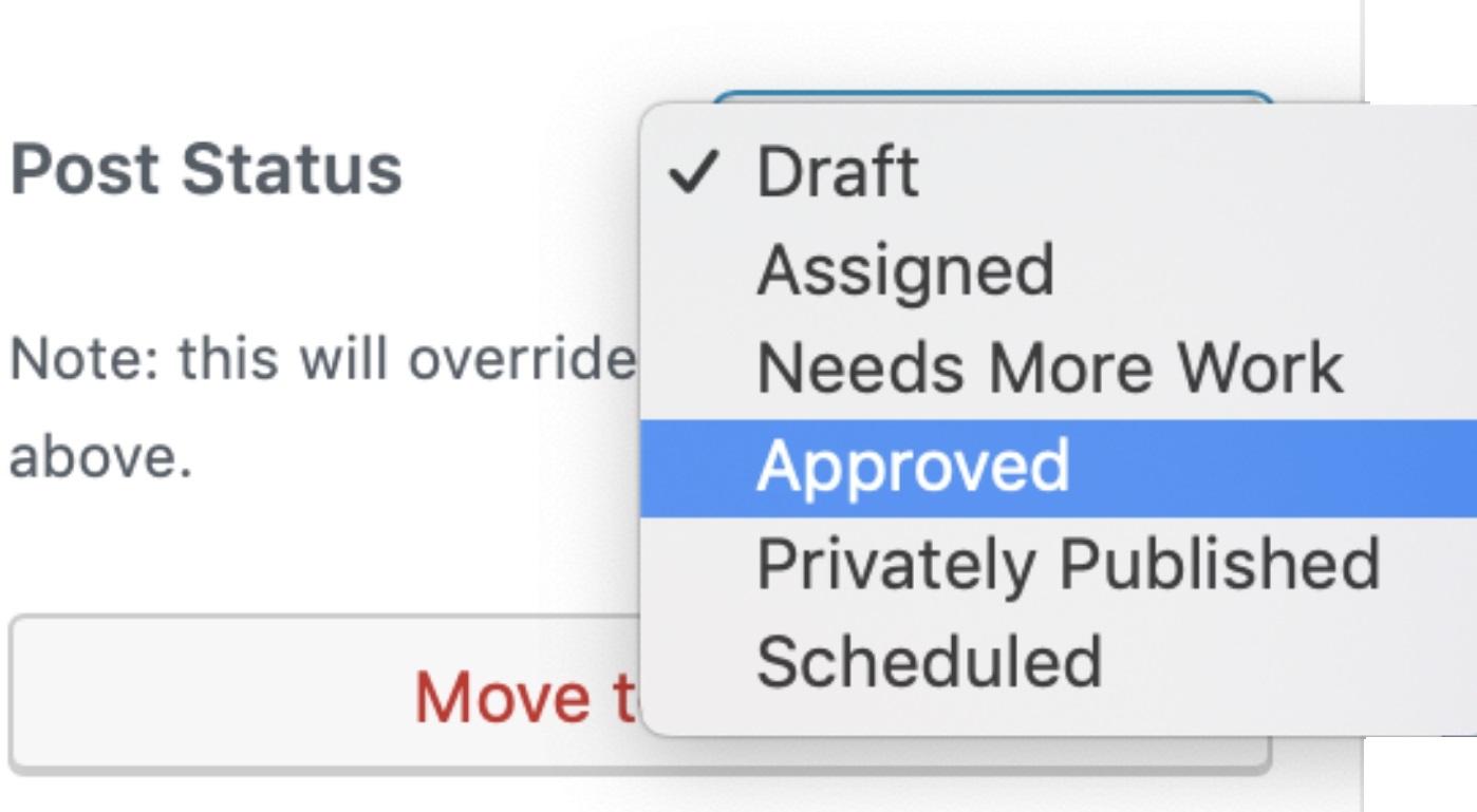 Custom Statuses in WordPress 11