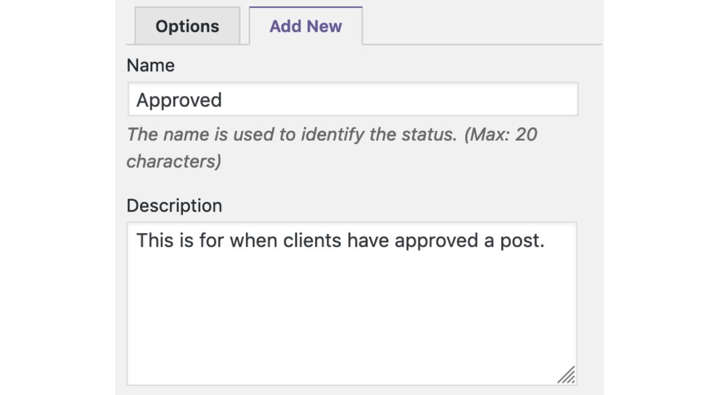 Custom Statuses in WordPress 7