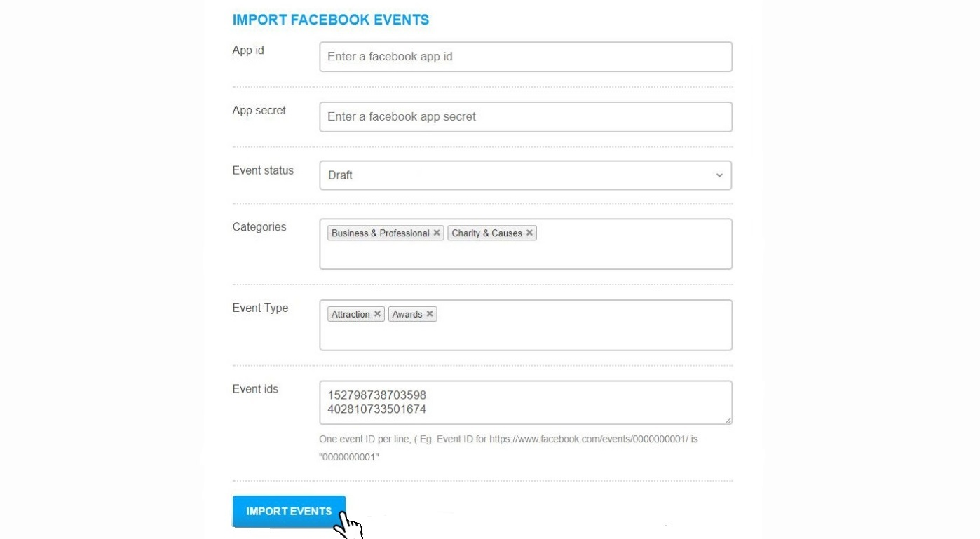 Import Facebook Events Into Your WordPress Events Website