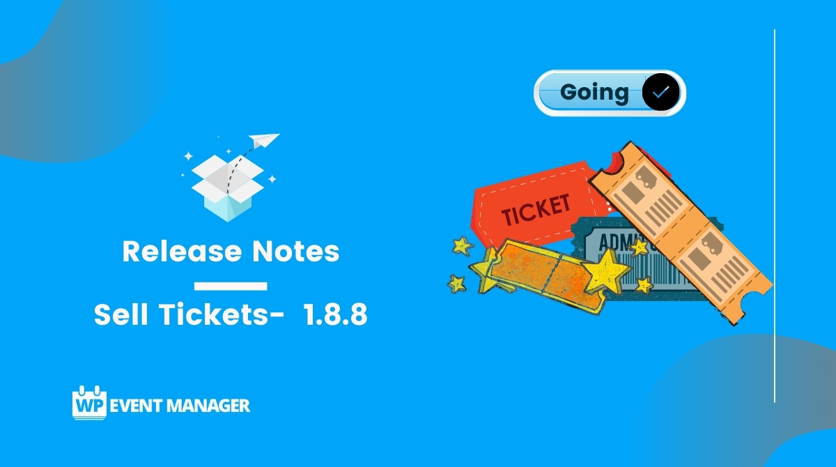 Sell Tickets-  1.8.8