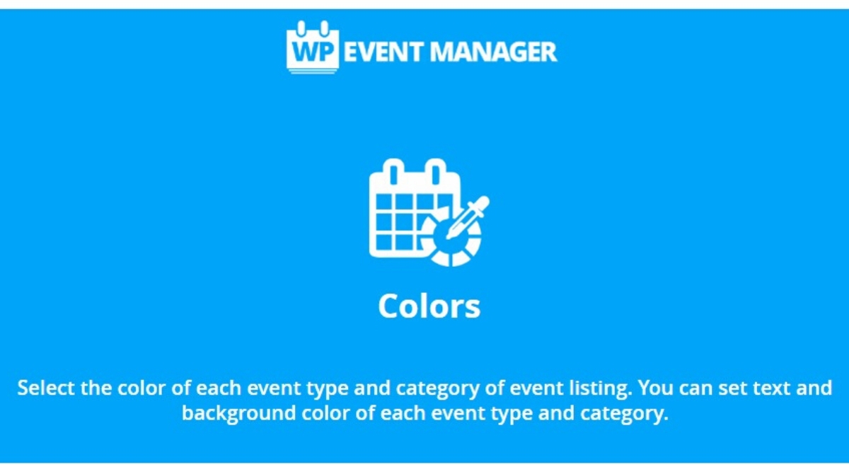 Latest Colors Add-on for Colorful Event Types and Categories