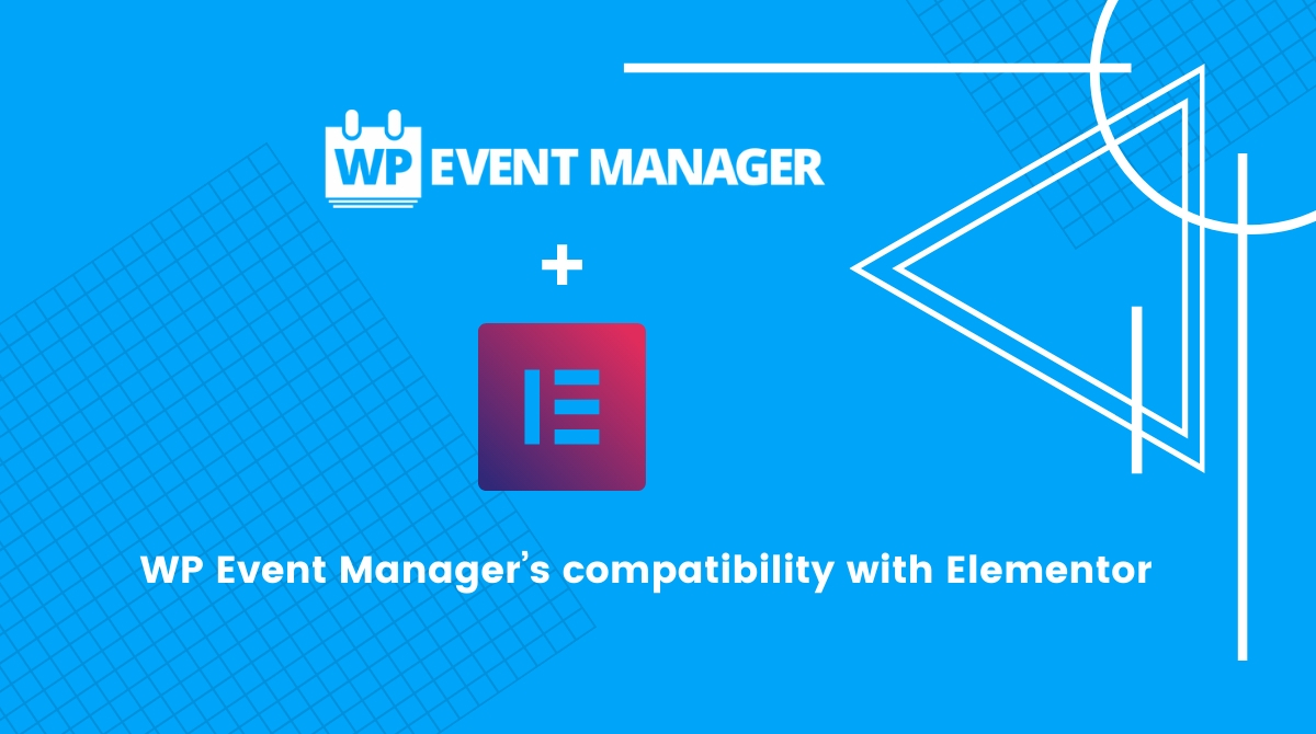 WP Event Manager's compatibility with Elementor creates a highly functional event management website