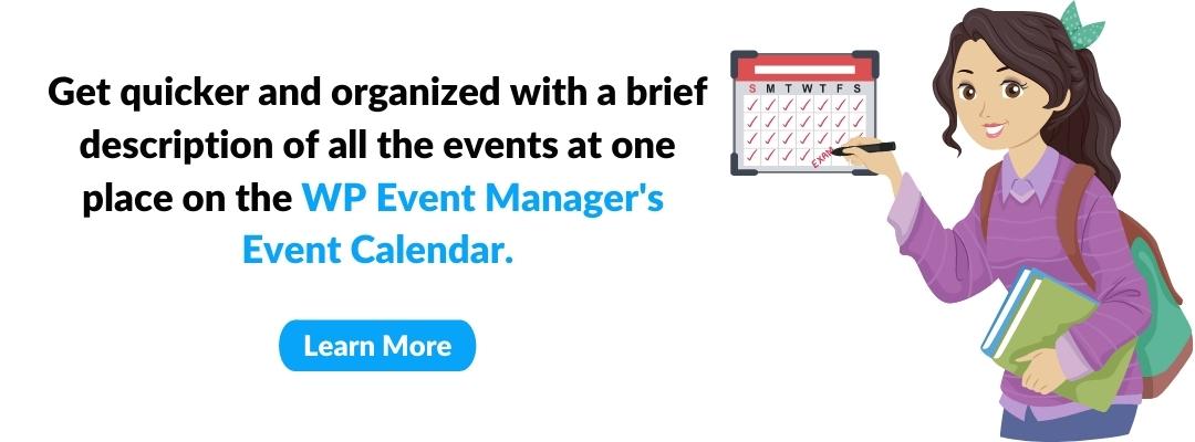Way To Use Event Calendar